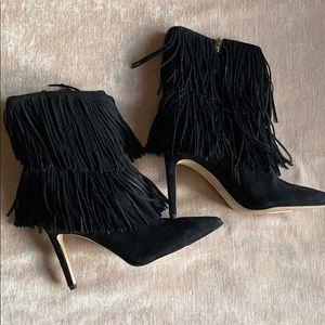 Like new Sam Edelman fringe high heel booties